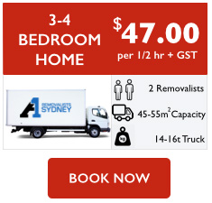 3-4 bedroom home removalist cost