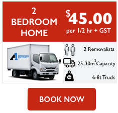 2 bedroom home removalist cost
