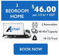 3 bedroom home removalist cost