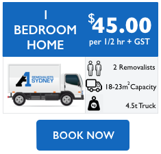 1 bedroom home removalist cost
